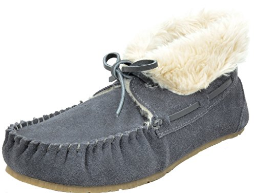DREAM Slippers Flats Shozie Shoes Faux Women's Fur Grey PAIRS Loafers 02 rwOqR4Prx