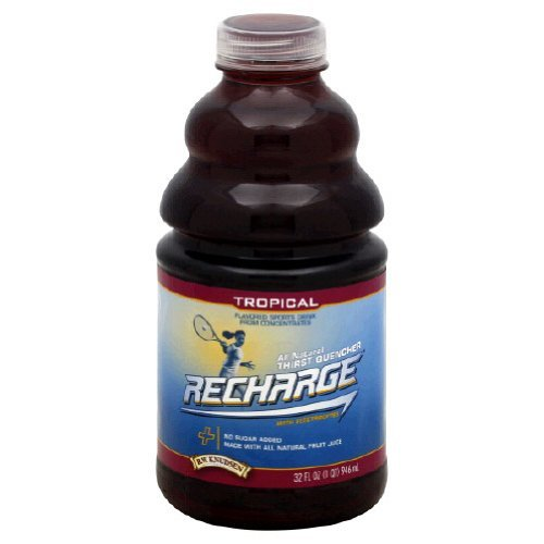 R.W. Knudsen Recharge Sports Drink, Tropical, 32-Ounce Bottles (Pack of 12) by R.W. Knudsen