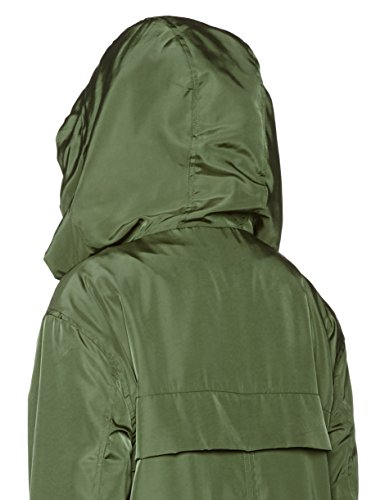 Khaki Stone Femme Bridge Look Dark Green Parka New PRwFxq40