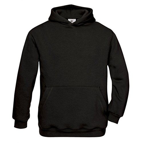 B&C - Kinder Kapuzen-Sweatshirt 'Hooded Sweat' 12/14 (152/164),Black