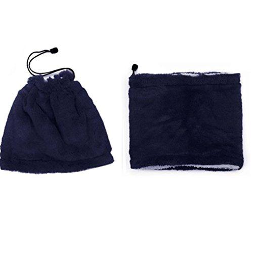 Fleece Neck Warmer Smdoxi Reversible Neck Gaiter Tube, Ear Warmer Headband, Mask & Beanie -