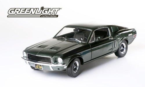 GreenLight 1:18 Bullitt/Steve McQueen (1968) - 1968 Ford Mustang GT Fastback - Highland Green