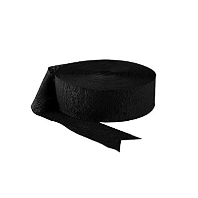Black Crepe Streamers Party Decoration Bundle - 6 Rolls, 81 Ft Per Roll: Health & Personal Care