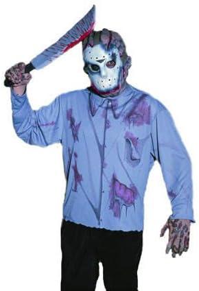 Hombre-disfraz-Set Jason, máscara, camiseta y machete: Amazon.es ...