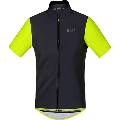 Gore Bike WEAR, Men´s, Cycling Jersey, Short Sleeves, Gore Windstopper Soft Shell, Power WS SO, Size S, Black/Neon Yellow, SWSOPO (Gore Bike Wear Power Windstopper Softshell Jersey)