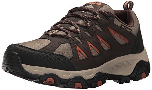 Skechers Men's Terrabite Oxford, Brown/Orange, 11 M US (Skechers Oxford Mens Shoes)