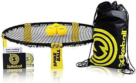 Spikeball 3 Ball Game Set - Outdoor Indoor Gift for Teens, Family - Yard,  Lawn, Beach, Tailgate - Includes Playing Net, 3 Balls, Drawstring Bag, Rule