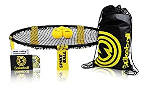 Spikeball 3 Ball Game Set - Outdoor Indoor Gift for Teens, Family - Yard, Lawn, Beach, Tailgate - Includes Playing Net, 3 Balls, Drawstring Bag, Rule Book- As Seen on Shark Tank