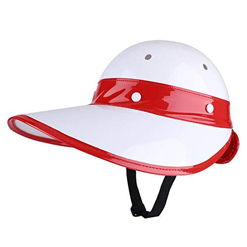 VGEBY1 Golf Sun Shade Cap, Golf Safety Hard Hat Shield Helmet Sun Block Golf Caddie Helmets Head Protective Accessory for Kids Outdoor Sports(Red)