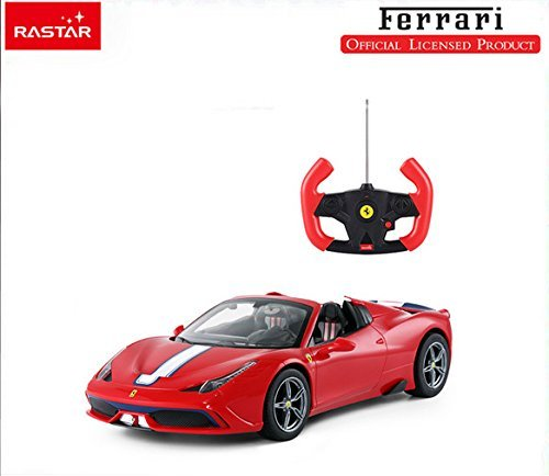 - 41aL0l0ZqSL - 1/14 Scale Ferrari 458 Speciale A Radio Remote Control Model Car R/C RTR Auto Open & Close Roof Convertible Push Button