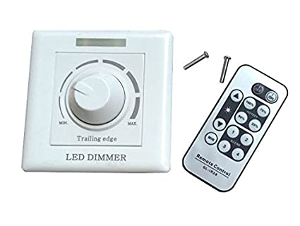 luminturs led scr dimmer switch ac 120v trailing edge ir remote