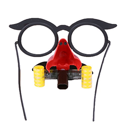 COMVIP Children Halloween Party Funny Blowout Toy Nose Eyeglasses Red -