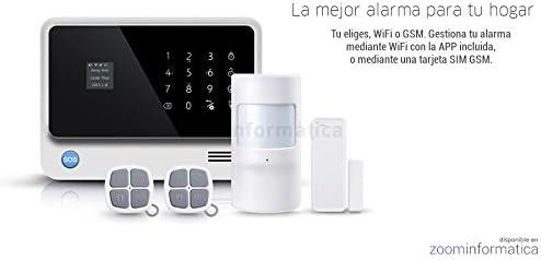 Kit Alarma WiFi Plus con APP control remoto mediante GSM, Wi-Fi ...
