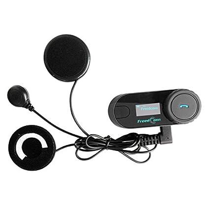 schermo LCD FreedConn TCOM-SC Set bluetooth con auricolari e microfono per moto e sci full duplex 2-3 apparecchi