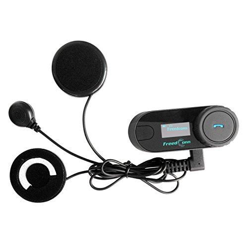 Freedconn 2 x T-COMSC Auriculares Intercomunicador Bluetooth de Casco de Motocicleta Moto Intercom Headset 800M, FM Altavoz Hi-Fi Sintonizador 3 Los Jinetes ...