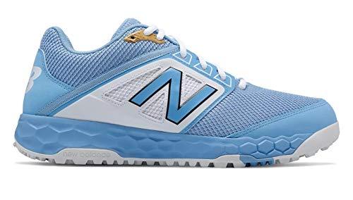 New Balance Men's 3000v4 Turf Baseball Shoe, Light Blue, 6.5 D US