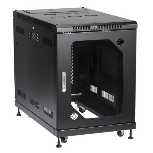 - BLACK BOX RM2410A Select Server Cabinet with Tempered Glass Door, 15U
