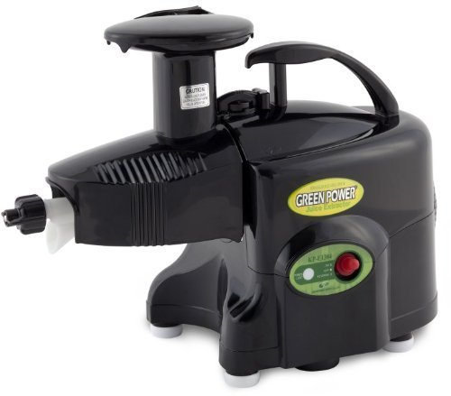 Green Power KPE1304 Twin Gear Juicer Wheatgrass, Vegetable & Fruit Juicer + Multi-purpose Kit - BLACK