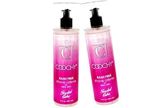 [Coochy Rash Free FROSTED CAKE Shave Creme Water Based Shave Cream and Moisturizer - Size 16 Oz (Pack of 2)] (Frosted Cream)