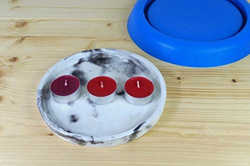 Silicone mold for round concrete tray by TrendBolt