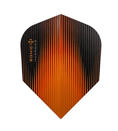 10 x Sets Harrows Sonic Orange Dart Flights Standard by PerfectDarts