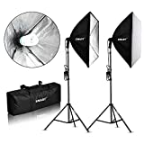 "Emart 900W Softbox Lighting Kit Photography Continuous Photo Studio Light System for YouTube Video Shooting Soft Box 24"" x 24"""