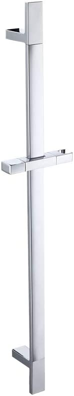 KES Bathroom Square Slide Bar with Adjustable Holder Wall Mounted Contemporary Hotel Style Chrome,F210-CH