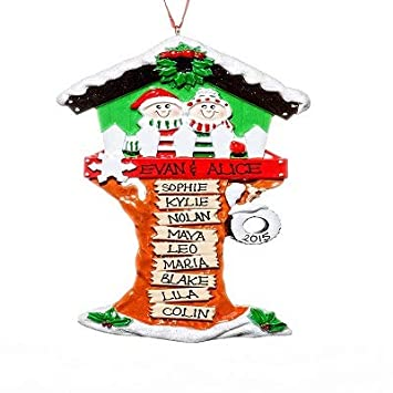 Rudolph and Me Christmas Tree House (11 Names) Personalized Christmas  Ornament - Amazon.com: Rudolph And Me Christmas Tree House (11 Names