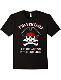 Pirate Captain Dad T-Shirt Funny Pirate Dad Tee