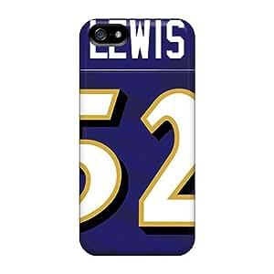 Iphone 5/5s Uqq5287Qiza Custom Lifelike Baltimore Ravens Series High Quality Cell-phone Hard Cover -InesWeldon