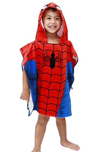 Jay Franco Spiderman Hooded Towel, Classic -