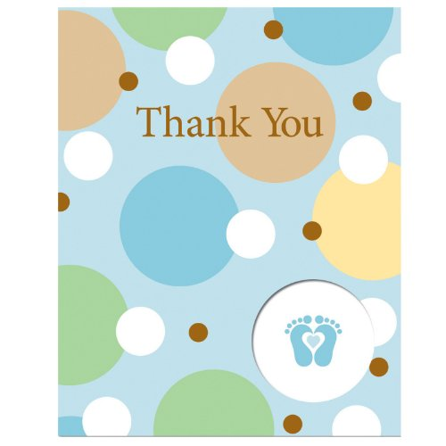 Tiny Toes Blue Thank-You Notes