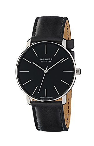 freiherr-v-burgstall-mens-and-womans-watch-stainless-steel-watch-with-genuine-leather-band-berlin