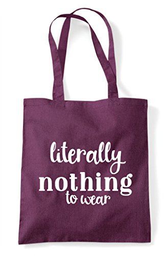 Tote Statement To Nothing Literally Shopper Wear Plum Bag B8Tgxwqx