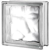 Quality Glass Block 7.5 x 7.5 x 3 Pegasus Metalized Q19 Magenta Wave Glass Block