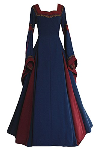 Boomtrader Womens Medieval Long Sleeved Trumpet Gothic Victorian Fancy Party Dress Style,X-Large for $<!--$35.99-->