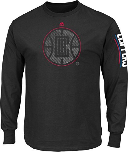 NBA Los Angeles Clippers Men's Easy Choice Long Sleeve Basic Tee, XX-Large, Black