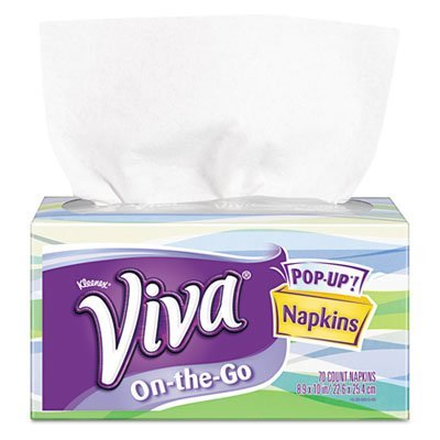 Viva On-the-Go Napkins 1-Ply 8 9/10 x 10 White 70 per Pop-Up Box (Popup Napkin)