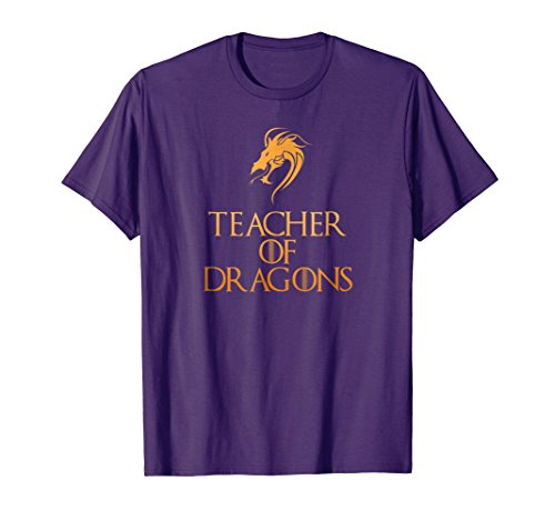 Mens Teacher Of Dragons T-Shirt Funny Halloween Costume Top Tee 2XL -