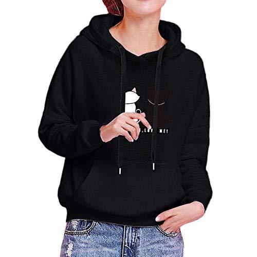 - clearance sale!!ZEFOTIM Womens Long Sleeve Hoodie Sweatshirt Casual Hooded Fashion Winter Autumn Tops(Large,Black)