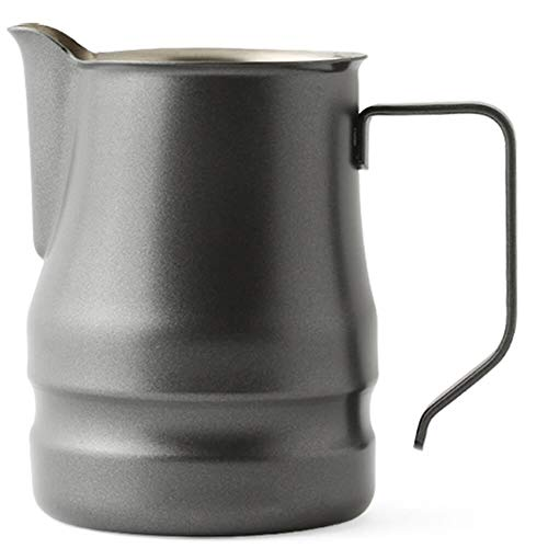 Ilsa Evolution Milk Frothing Pitcher Professional Latte Art Milk Steaming Jug Stainless Steel, Grey - 350ml / 12oz by Ilsa (Image #3)