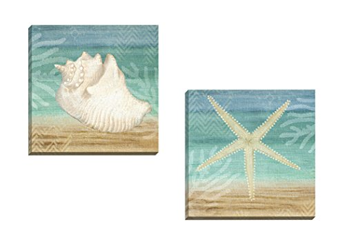 Portfolio-Canvas-Decor-Framed-and-Stretched-Ready-to-Hang-Aqua-Starfish-Canvas-Wall-Art-by-Beth-Albert-Set-of-2-16-x-16Large