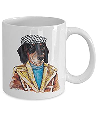 Funny Dachshund Geezer Mug - Cool Ceramic Doxie Coffee Cup (15oz)