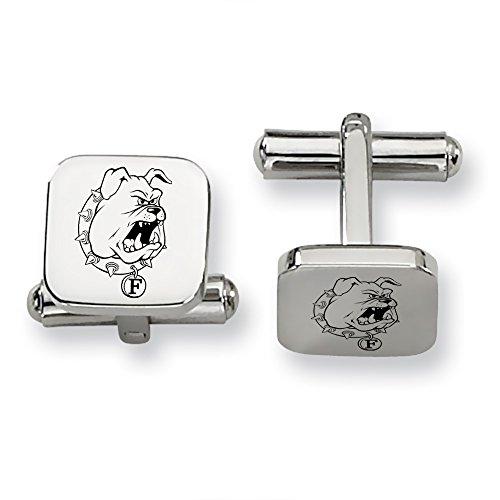 Ferris State Bulldogs Stainless Steel Square Cufflinks