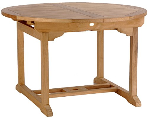 Teak Elzas Round Extension Table made by Chic Teak