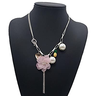 Wholesale Susenstone Women Pendant Necklace Flower Crystal Chain Choker Collar