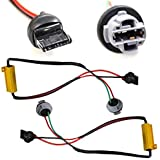 iJDMTOY (2) Hyper Flash Fix Error Free Wiring Adapters Compatible With 7440 992A T20 LED Turn Signal Light Bulbs