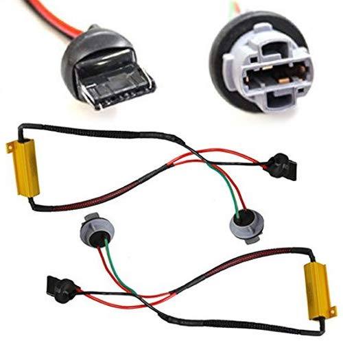 iJDMTOY (2) Hyper Flash Fix Error Free Wiring Adapters For 7440 992A T20 LED Turn Signal Light - Gauge Legacy Pod Gt
