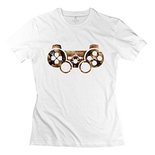 WXTEE Women's God Of War Online Games Tshirt Size S White