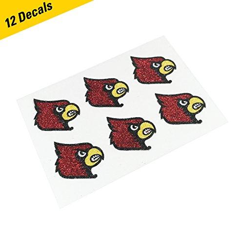 EyeBlack Louisville Cardinals Glitter Cheek Decals, Perfect for